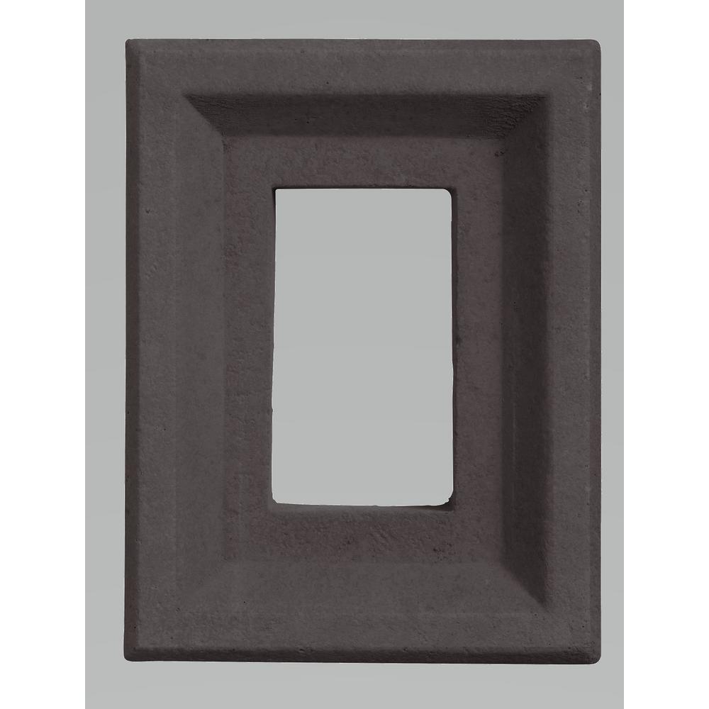 Boral 10 in. x 8 in. Versetta Stone Light Box in Charcoal, Gray/Black -  9005061