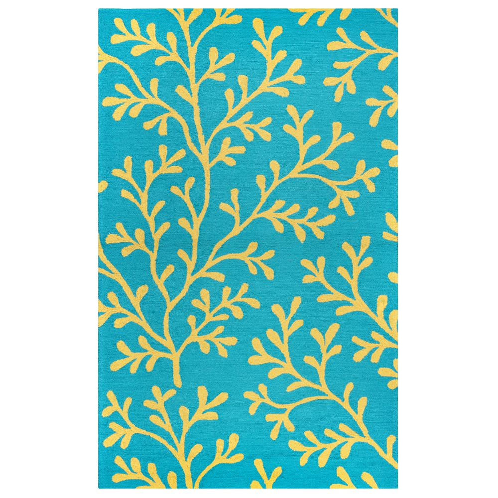 Rizzy Home Azzura Hill Dark Teal Floral 2 Ft. X 3 Ft