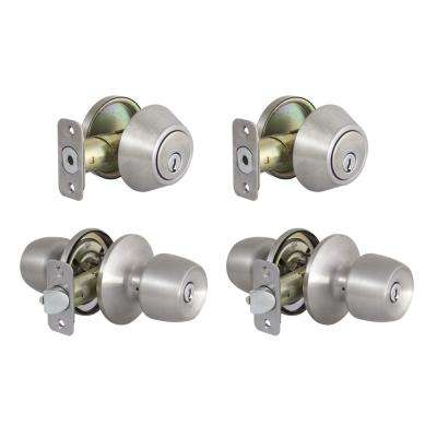 Brandywine Stainless Steel Single Cylinder Keyed Entry Project Pack