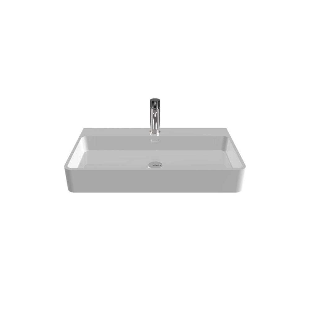 Badeloft USA Badeloft 31 in. Wall-Mount Vessel Sink in Glossy White