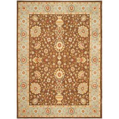 Tuscany Brown/Light Blue 5 ft. 3 in. x 7 ft. 6 in. Area Rug