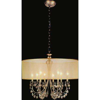 Halo 8-Light French Gold Chandelier with Gold shade