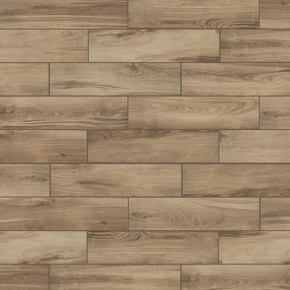 Florida Tile Home Collection Alpine Sand 6 in. x 24 in. Porcelain Floor and Wall Tile (448 sq. ft./ pallet)