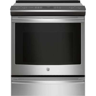 Profile 5.3 cu .ft. Smart Slide-In Induction Range with Self-Cleaning Convection Oven in Stainless Steel