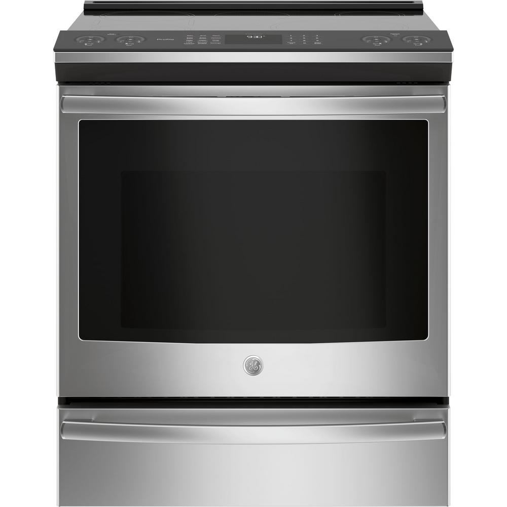 5.3 cu .ft. Slide-In Smart Electric Range with Self-Cleaning True Convection