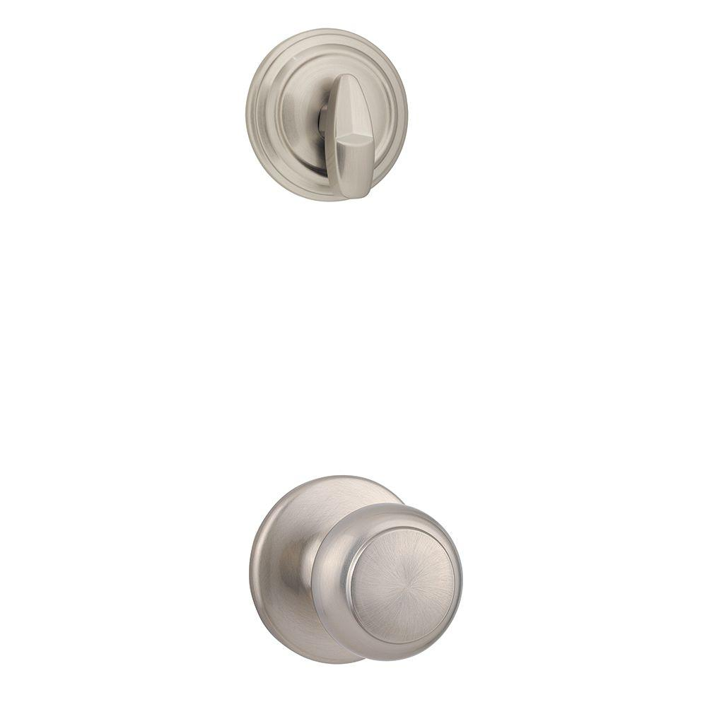 Cove Single Cylinder Satin Nickel Interior Pack Knob