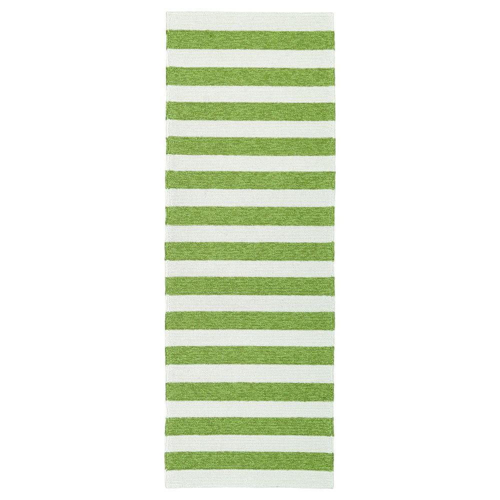 Escape Green 2 ft. x 6 ft. Indoor/Outdoor Runner Rug