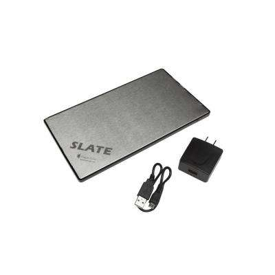 Slate 11000 mAh Rechargeable Lithium Portable Battery Pack for Cell Phones, Smartphones and Other Portable Electronics