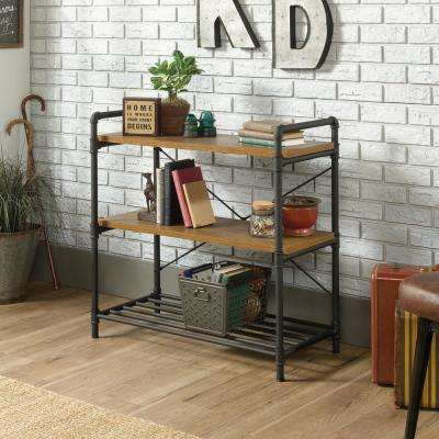 Iron City Checked Oak Console Table