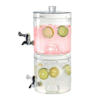 1.25 Gal. Stacking Beverage Dispensers with Upgraded ABS Spigot (Set of 2)