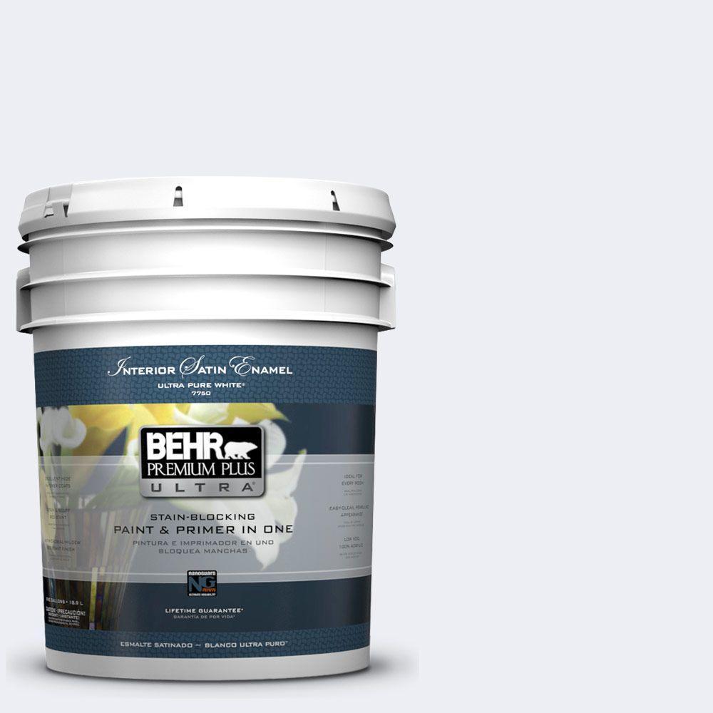 BEHR Premium Plus Ultra 5-gal. #PPL-13 Distant Windchime Satin Enamel Interior Paint