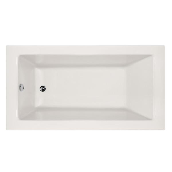 Hydro Systems Shannon 66 In Acrylic Rectangular Alcove Air Bathtub In White Csyd6632ltaw The Home Depot