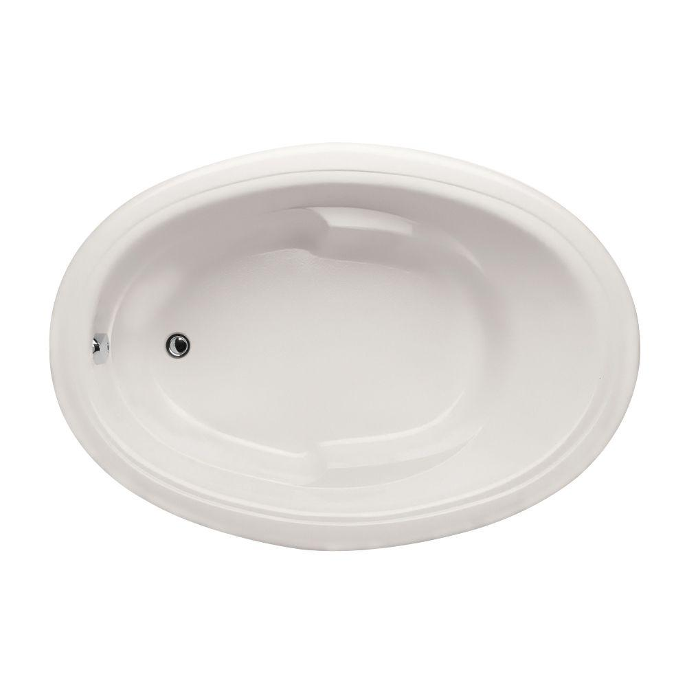 Studio Oval 5 ft. Reversible Drain Air Bath Tub in White
