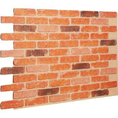7/8 in. x 46-5/8 in. x 33-3/4 in. Victorian Brick Urethane Old Chicago Brick Wall Panel