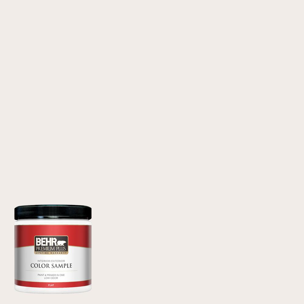 Behr Premium Plus 8 Oz Rd W10 New House White Flat Interior Exterior Paint And Primer In One Sample Pp10016 The Home Depot