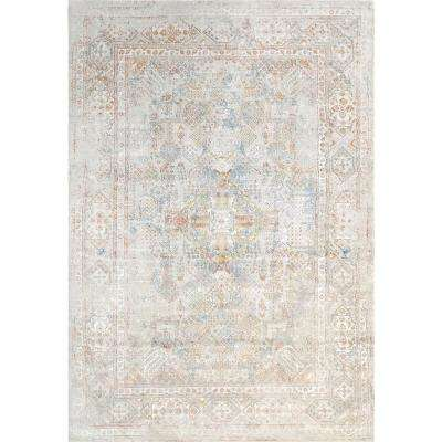 VALLEY GREY/RED 2FT X 3FT 11IN TRADITIONAL VISCOSE AREA RUG