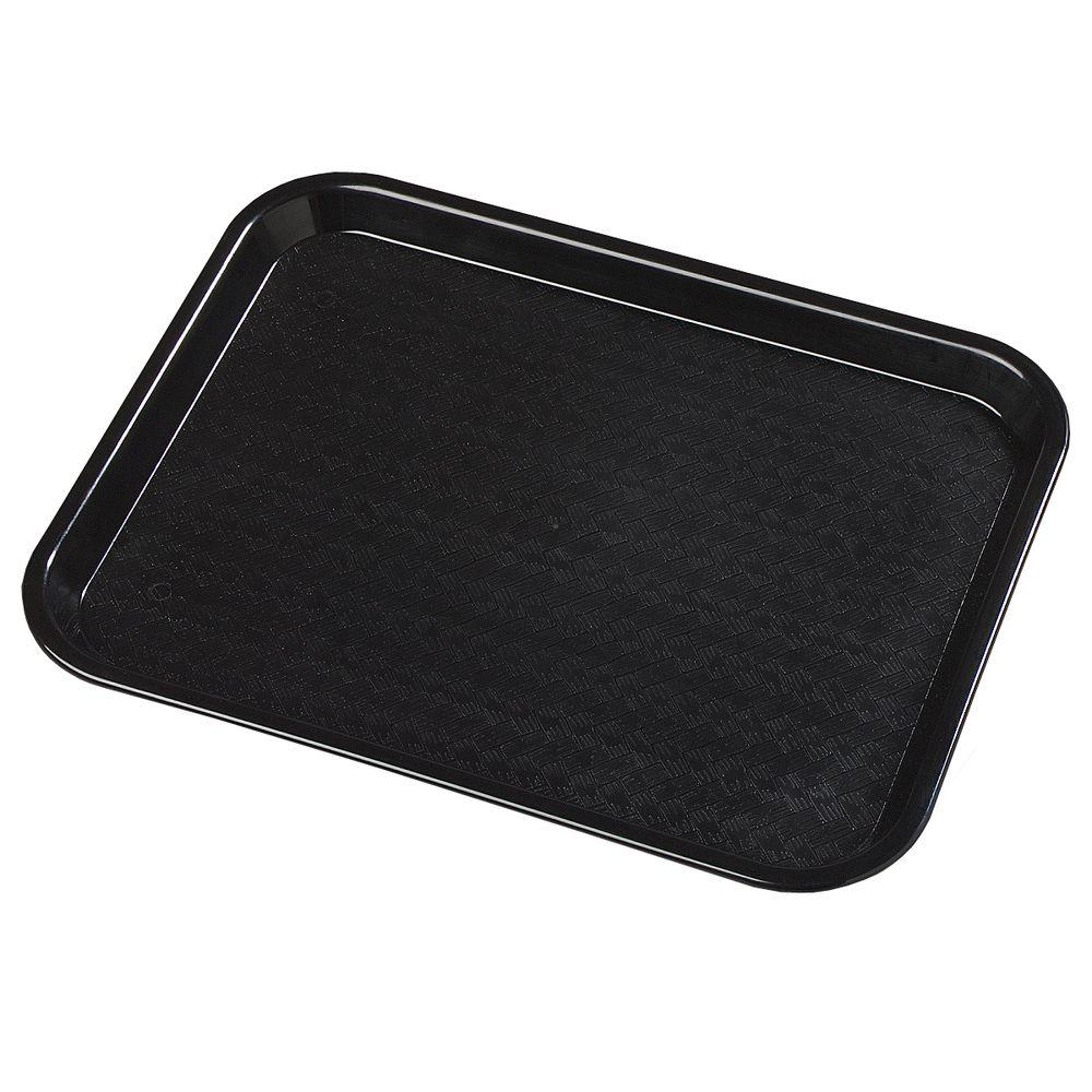 14 in. x 18 in. Polypropylene Tray in Black (Case of