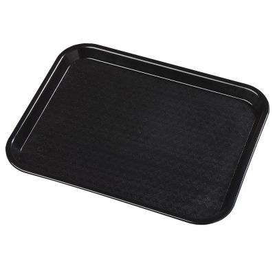 14 in. x 18 in. Polypropylene Tray in Black (Case of 12)