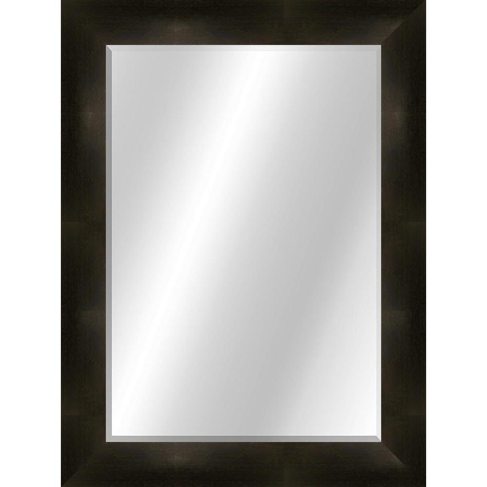 Wood Toned 22 x 28 Value Core Light Grey Framed Vanity Mirror