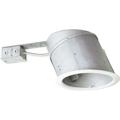 8 in. Remodel Sloped Ceiling Recessed Metallic Housing, IC