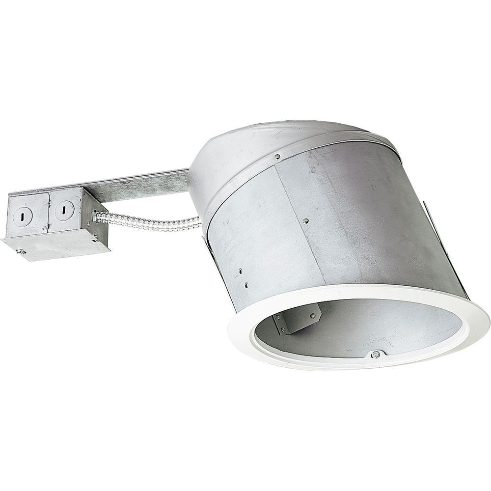Progress Lighting 8 In Remodel Sloped Ceiling Recessed Metallic Housing Ic