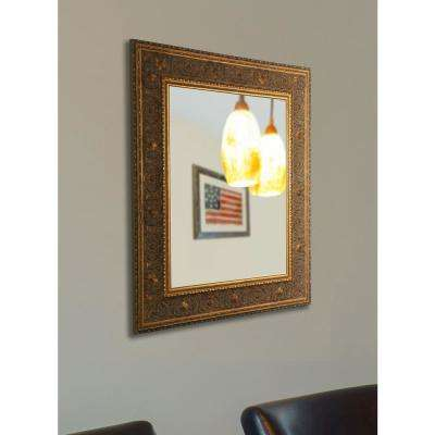 62 in. x 42 in. Opulent Gold Non Beveled Vanity Wall Mirror