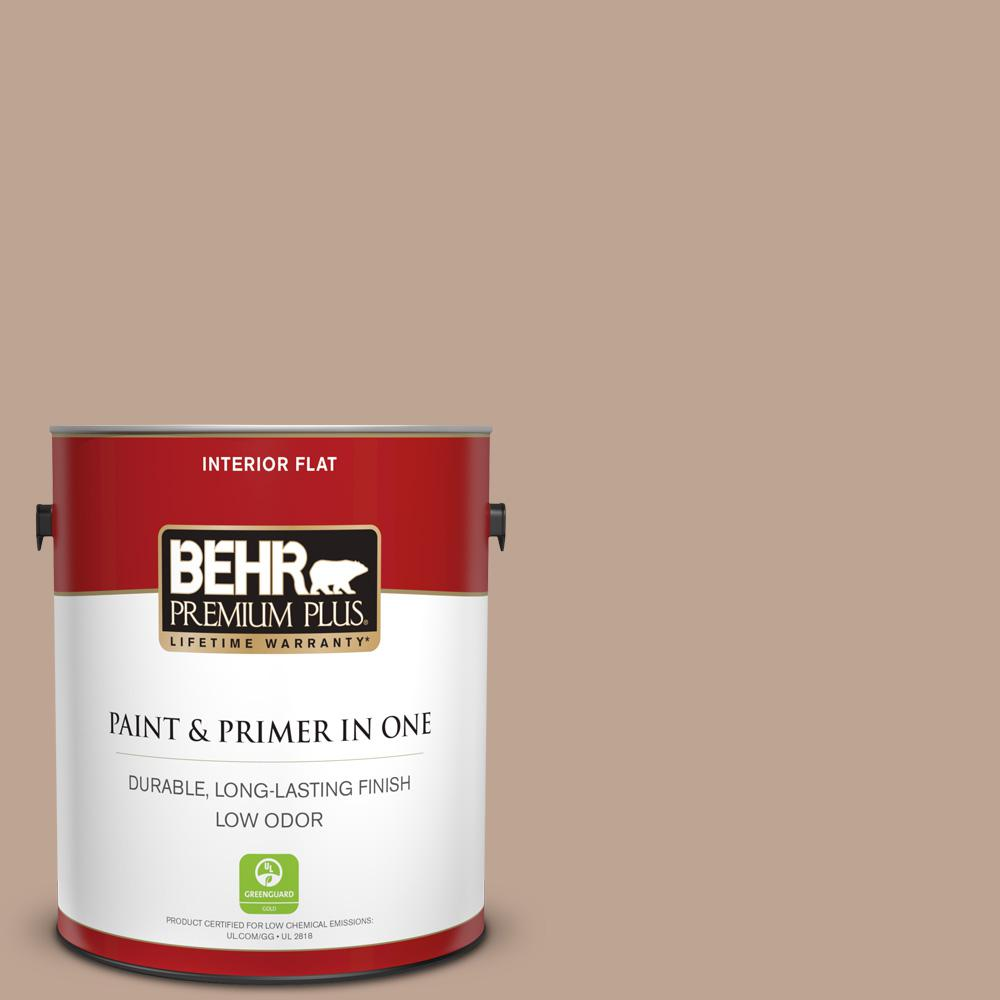 1 gal. #700D-4 Brown Teepee Flat Low Odor Interior Paint and