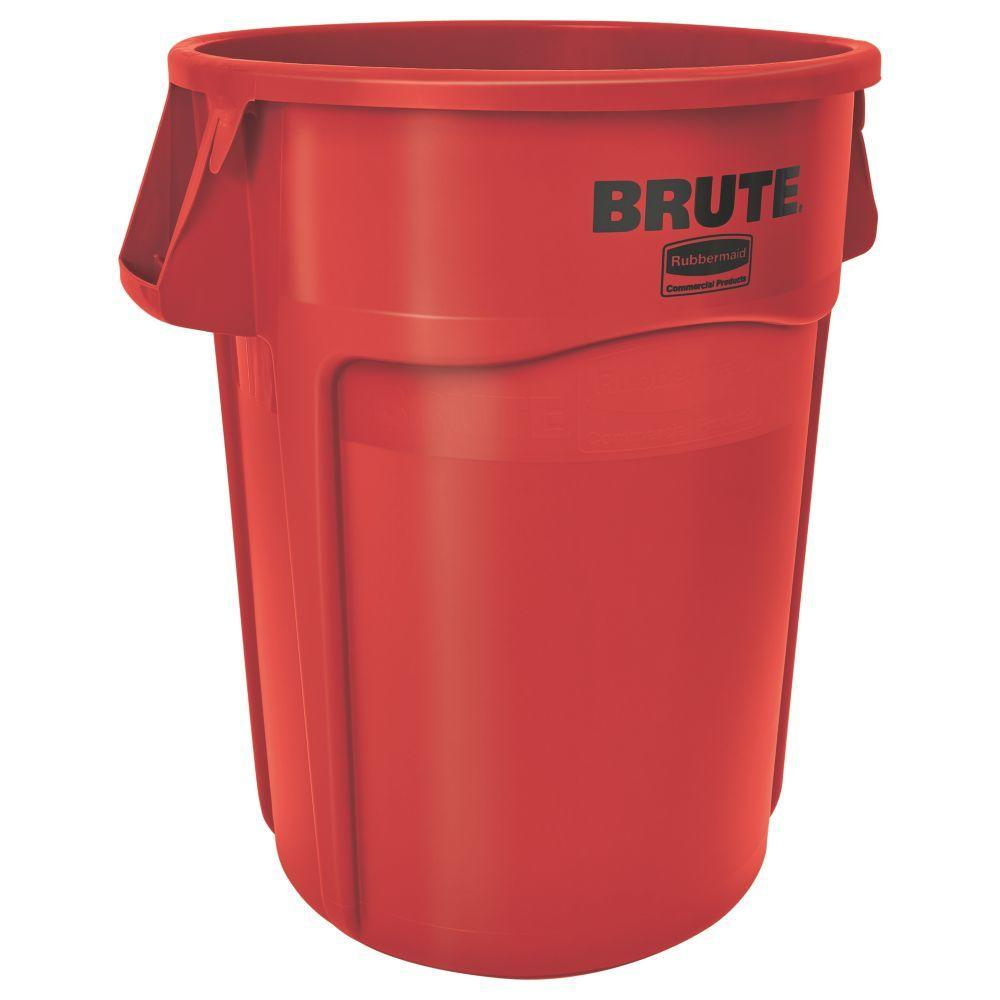 rubbermaid commercial products plastic trash cans rcp2632red 64_1000 trash cans trash & recycling the home depot HDX Outdoor Trash Can at bayanpartner.co