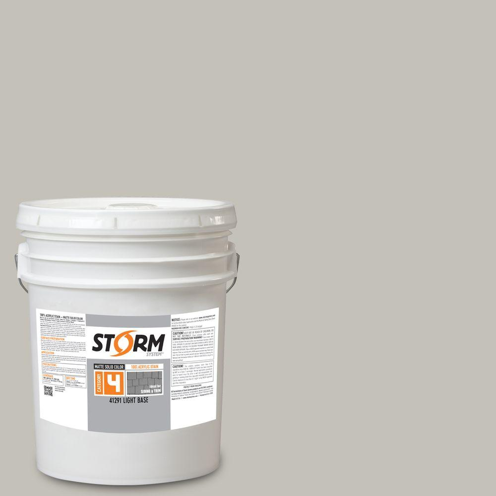 Storm System Category 4 5 gal. Lighthouse Fog Matte Exterior Wood Siding 100% Acrylic Stain
