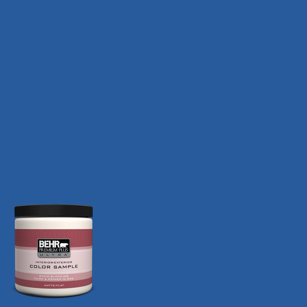 P510 7 Beacon Blue Matte Interior Exterior Paint And Primer In One Sample