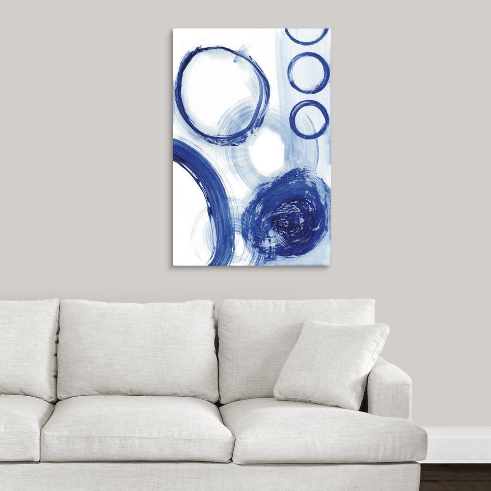 """""""Blue Circle Study III"""" by  Jodi Fuchs Canvas Wall Art"""