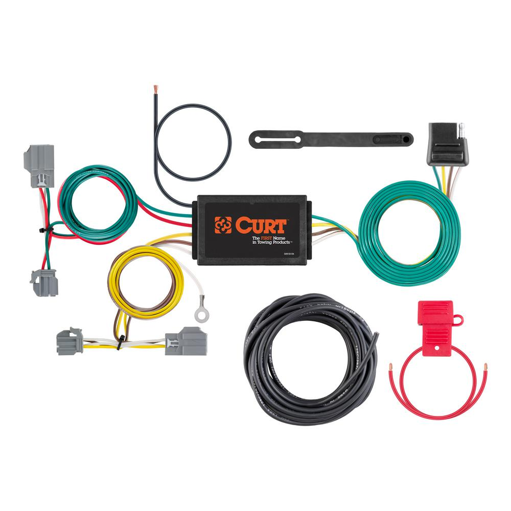 CURT Custom Vehicle-Trailer Wiring Harness, 4-Way Flat Output, Select Ford  Focus Sedan, Quick Electrical Wire T-Connector-56138 - The Home DepotThe Home Depot