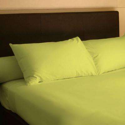 4-Piece Green 300 Count Egyptian Cotton King Sheet Set