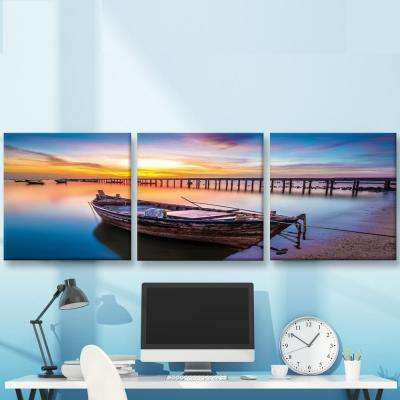 "20 in. x 60 in. ""Living by the Ocean"" Printed Canvas Wall Art"