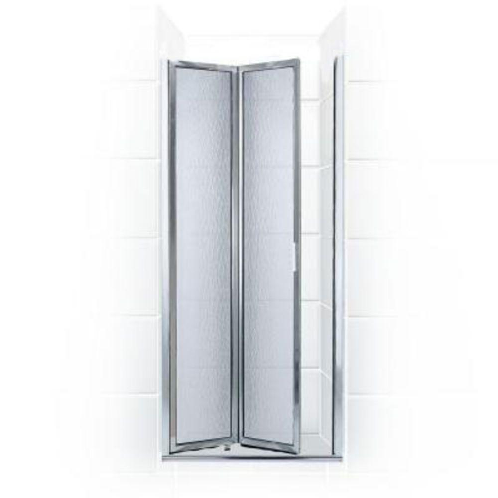 Coastal Shower Doors Paragon Series 23 in. x 66 in. Framed Bi-Fold Double Hinged Shower Door in Chrome and Obscure Glass