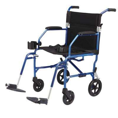 Freedom Transport Wheelchair in Blue