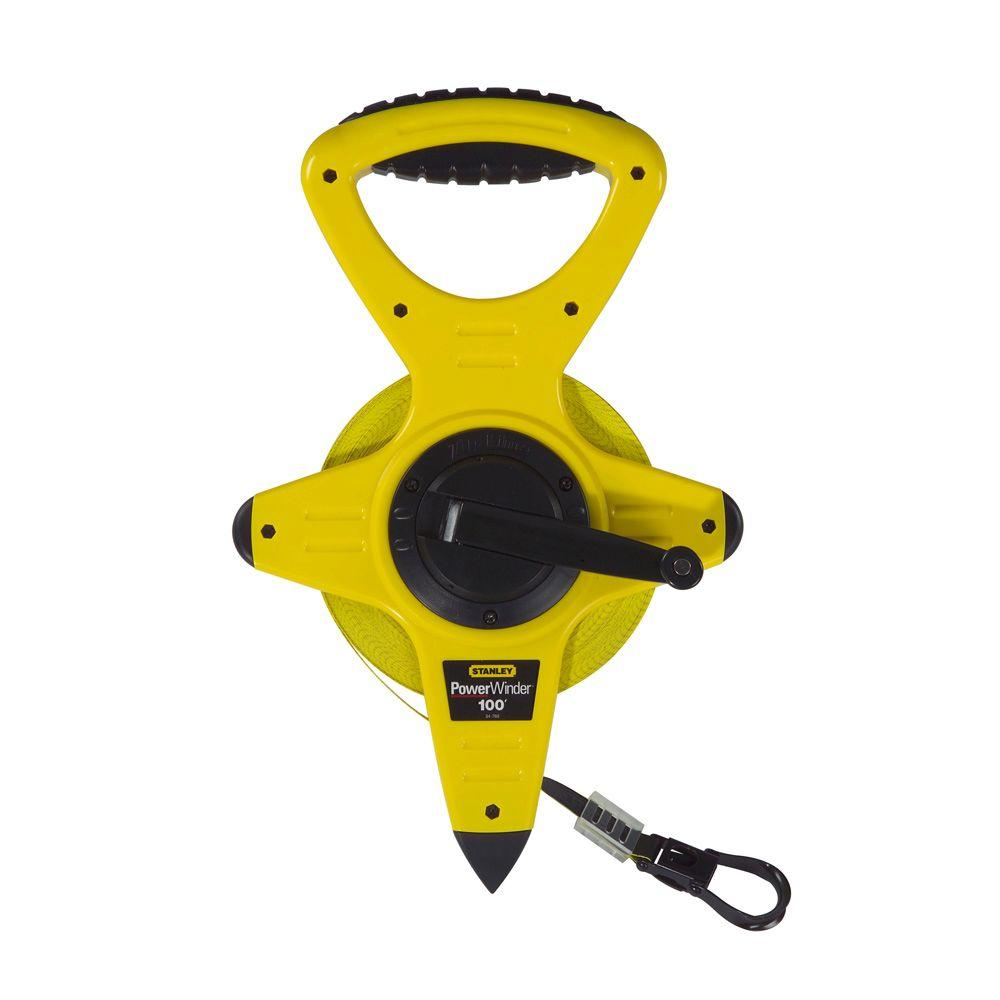 Stanley 100 ft PowerWinder Tape Measure34760 The Home Depot