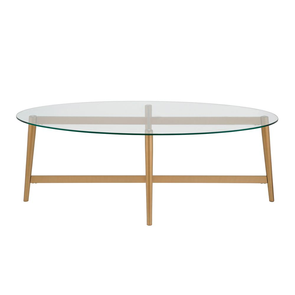- Meyer&Cross Olson Oval Coffee Table In Gold-CT0071 - The Home Depot