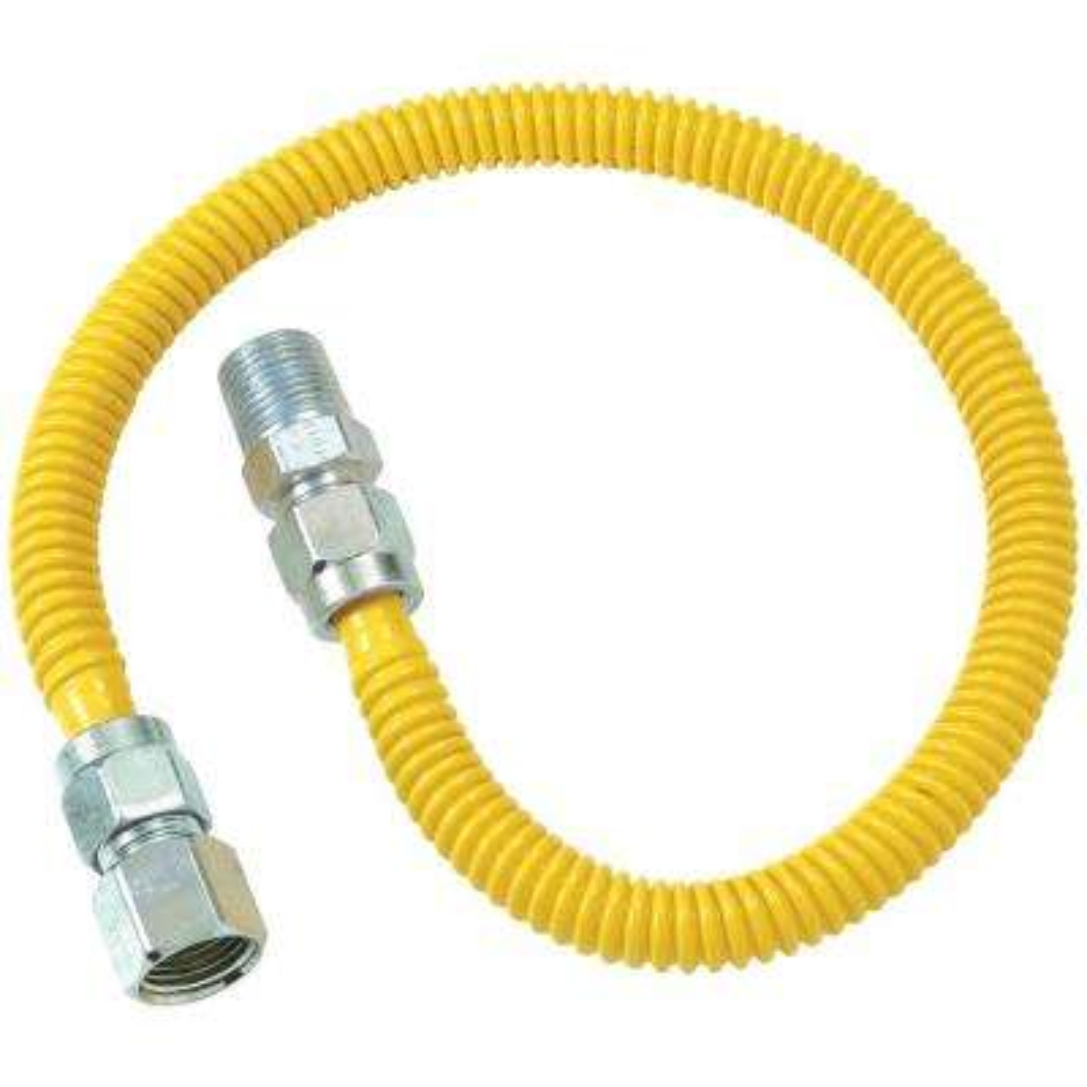 Gas Dryer and Water Heater Flex-Line (1/2 in.O.D. x 48 in. (1/2 in. FIP x 1/2 in. MIP)