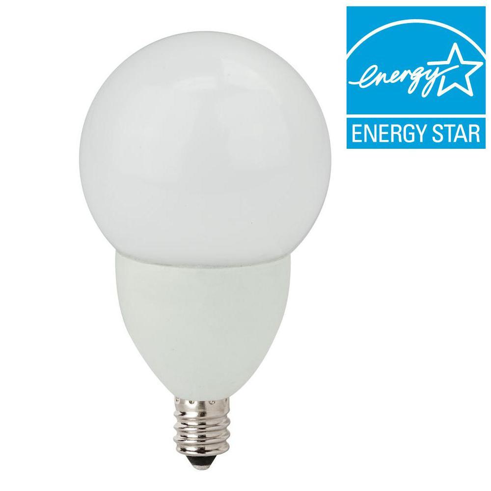TCP 25W Equivalent Soft White (2700K) G16.5 Dimmable LED Light Bulb (2-Pack)