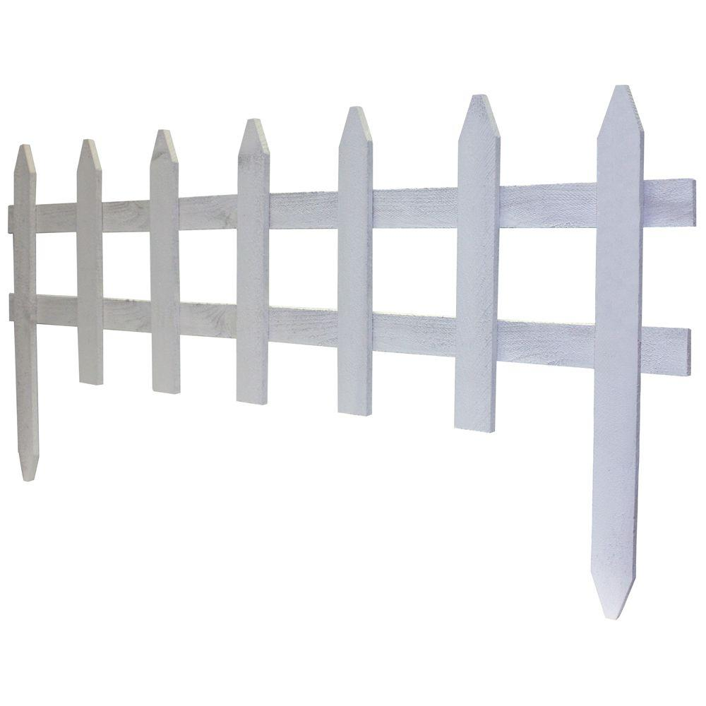 Hampton Bay 18 in. Wood Picket Garden Fence-RC 74W - The Home Depot