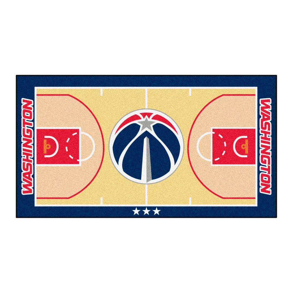 FANMATS NBA Washington Wizards Tan 2 ft. 6 in. x 4 ft. 6 in. Indoor Basketball Court Runner
