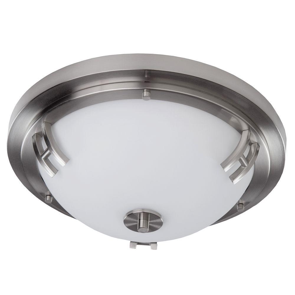 Whittier 2-Light Polished Nickel Flushmount