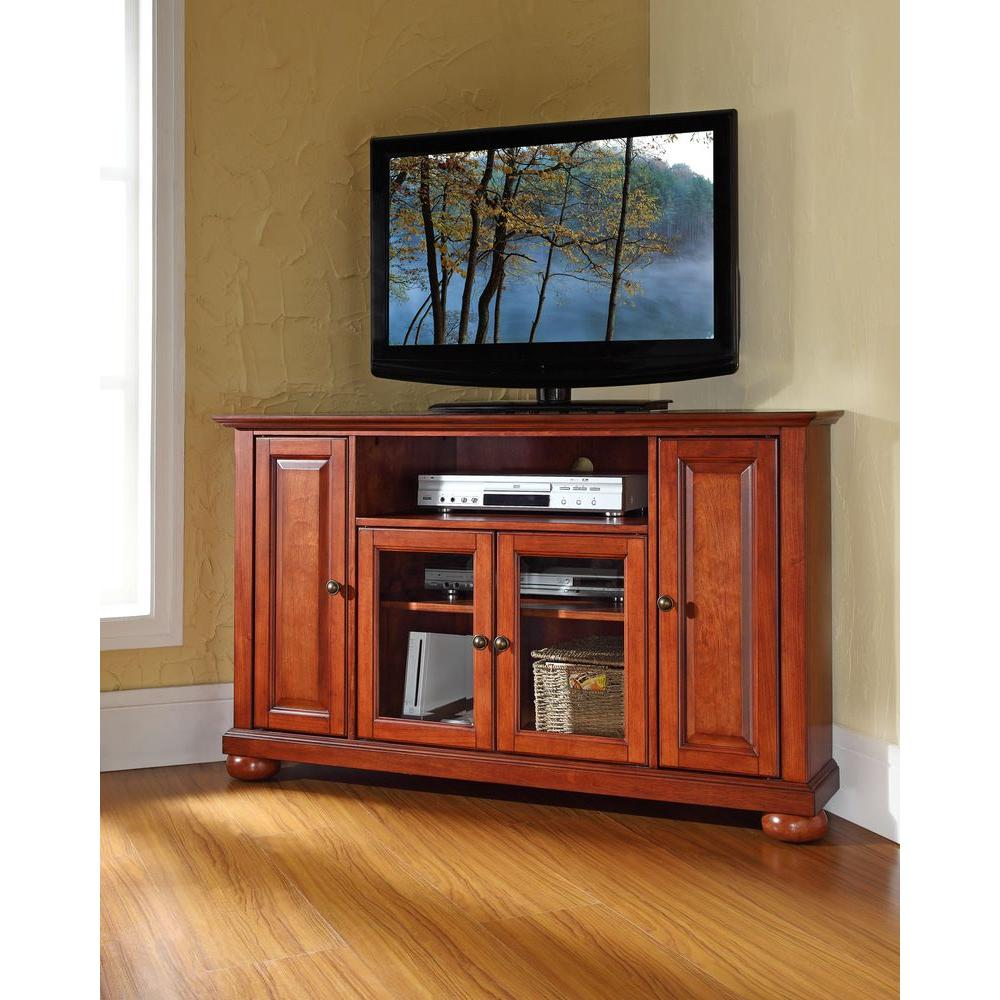 Crosley Alexandria Cherry Entertainment Center