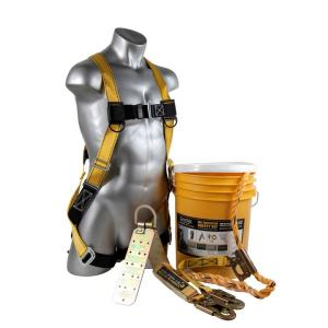 Guardian Fall Protection 25 ft. Rooftop Safe-Tie Bucket Kit by Guardian Fall Protection