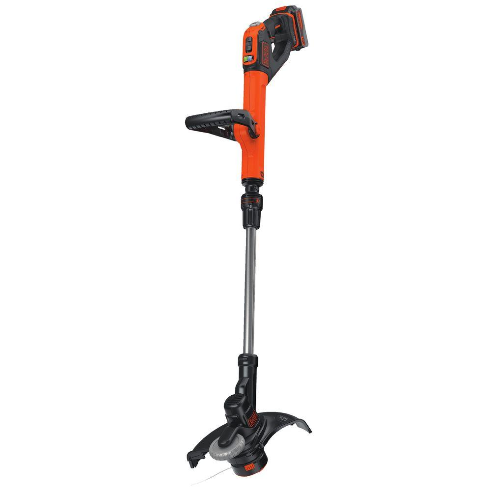 Black Decker 12 In 20v Max Lithium Ion Cordless 2 In 1 String Grass Trimmer Lawn Edger With 1 3 0ah Battery And Charger Included Lste523 The Home Depot