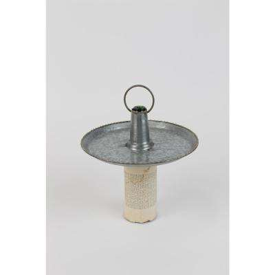 Grey Zinc Serving Bottle Topper with Handle