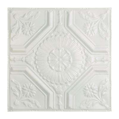 Rochester 2 ft. x 2 ft. Nail-up Tin Ceiling Tile in Matte White