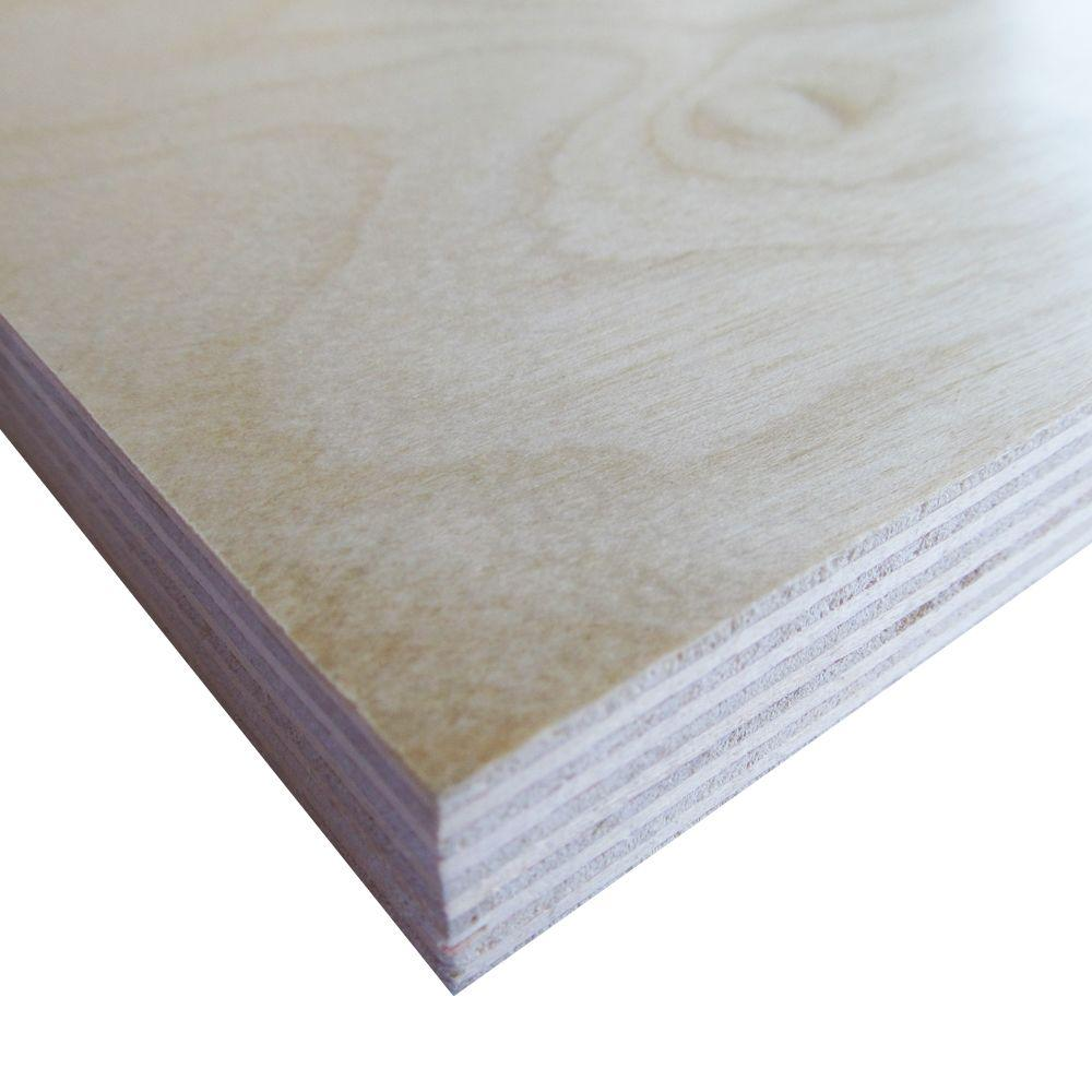 Swaner Hardwood Prefinished Birch Plywood (Common: 3/4 in. x 4 ft. x 8 ft.; Actual: 0.703 in. x 48 in. x 96 in.)