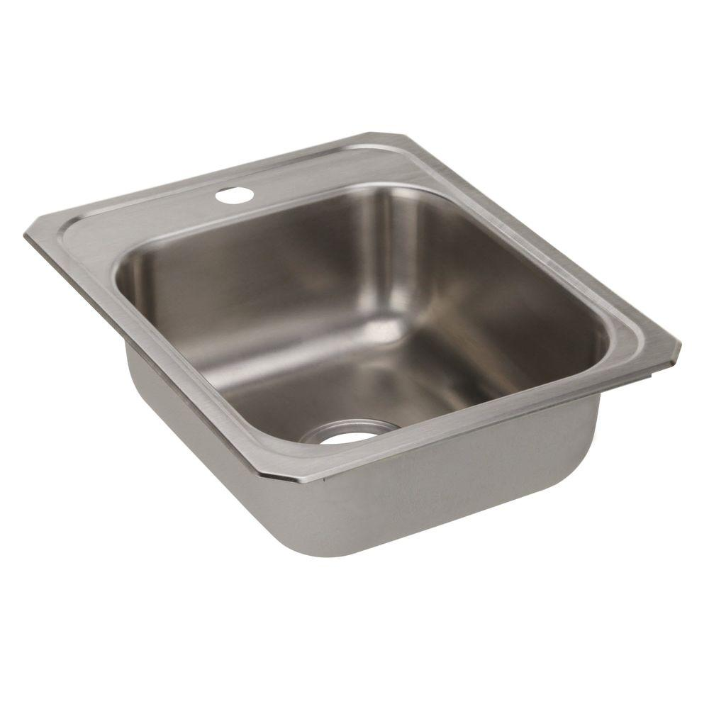 Celebrity Drop-In Stainless Steel 17 in. 1-Hole Single Bowl Kitchen Sink